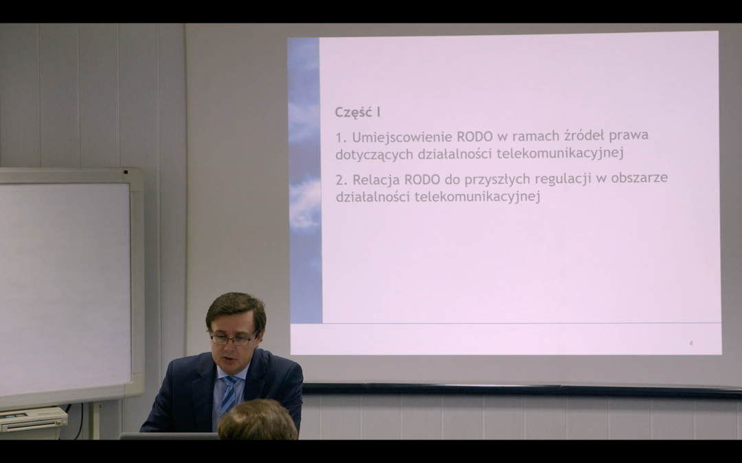 RODO w telekomunikacji – wprowadzenie (nagranie)